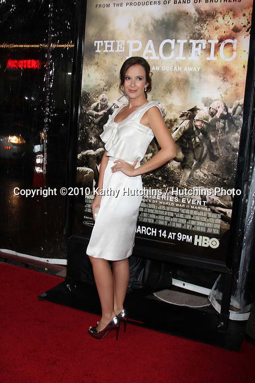 "Claire van der Boom.arriving at HBO's ""The Pacific"" Premiere Screening .Mann's Chinese Theater.Los Angeles, CA.February 24, 2010.©2010 Kathy Hutchins / Hutchins Photo...."