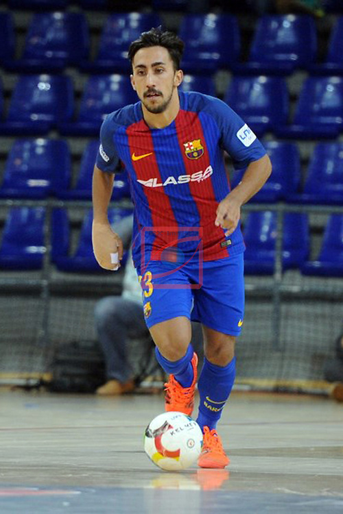 League LNFS 2016/2017 - Game 6.<br /> FC Barcelona Lassa vs Aspil Vidal Ribera Navarra: 7-1.<br /> Joselito.