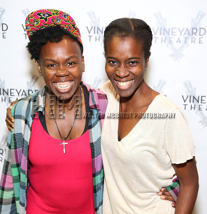 """Ngozi Anyanwu and Awoye Timpo attends the Cast photo call for the Vineyard Theatre production of """"Good Gfief"""" on September 12, 2018 at the Vineyard Theatre in New York City."""