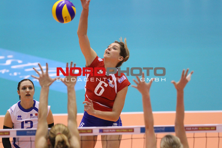 04.01.2014., Gimnasium Hall, Rovinj, Croatia - Qualifier volleyball tournament for the World Cup qualifications, Croatia - France.<br /> <br /> Foto &not;&copy;  nph / PIXSELL / Nel Pavletic