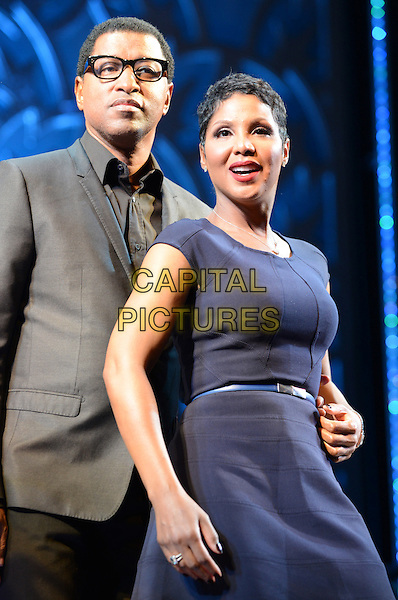 NEW YORK, NY - MARCH 13: Toni Braxton and Kenneth Babyface Edmonds at the press preview announcing Toni Braxton and Kenneth Babyface Edmonds as the newest 'Special Guest Stars' in the theatrical production of After Midnight at the Brooks Atkinson Theatre in New York City on March 13, 2014.  <br /> CAP/MPI/MJ<br /> &copy;Margot Jordan/MediaPunch/Capital Pictures