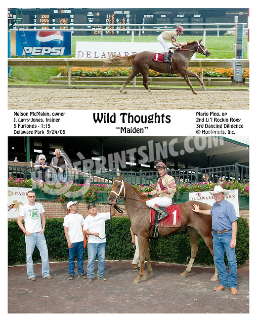 Wild Thoughts winning at Delaware Park on 9/24/2006