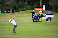 Keith Pelley, CEO Europeantour watches play from fairway during the third round of the Shot Clock Masters played at Diamond Country Club, Atzenbrugg, Vienna, Austria. 09/06/2018<br /> Picture: Golffile | Phil Inglis<br /> <br /> All photo usage must carry mandatory copyright credit (&copy; Golffile | Phil Inglis)