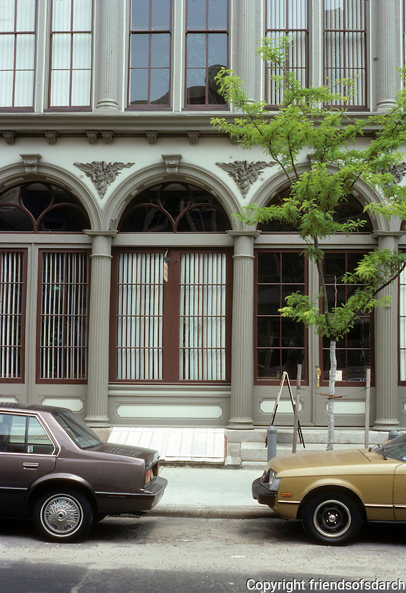 Philadelphia: Smythe Buildings. Cast iron details. Photo '85.