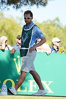 Jordan Smith (ENG) caddy Harry Bird during Round 1 of the Portugal Masters, Dom Pedro Victoria Golf Course, Vilamoura, Vilamoura, Portugal, 24/10/2019<br /> Picture Andy Crook / Golffile.ie<br /> <br /> All photo usage must carry mandatory copyright credit (© Golffile | Andy Crook)