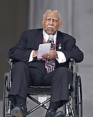 Reverend Joseph Lowery makes remarks at the Let Freedom Ring ceremony on the steps of the Lincoln Memorial to commemorate the 50th Anniversary of the March on Washington for Jobs and Freedom<br /> Credit: Ron Sachs / CNP