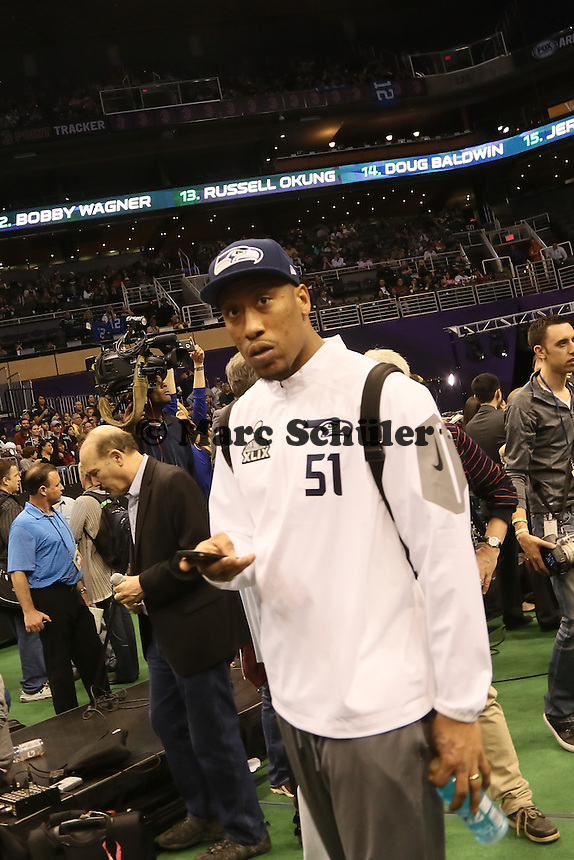 LB Bruce Irvin (Seattle) - Super Bowl XLIX Media Day, US Airways Center, Phoenix