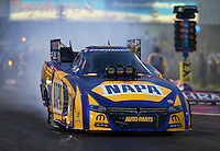 Apr 29, 2016; Baytown, TX, USA; NHRA funny car driver Ron Capps during qualifying for the Spring Nationals at Royal Purple Raceway. Mandatory Credit: Mark J. Rebilas-USA TODAY Sports
