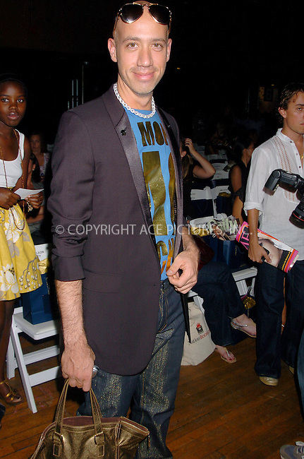 WWW.ACEPIXS.COM . . . . .  ....September 8, 2007. New York City.....Robert Verdi attends the Baby Phat/KLS Spring 2008 fashion show held at the Roseland Ballroom in New York City.......Please byline: AJ Sokalner - ACEPIXS.COM.... *** ***..Ace Pictures, Inc:  ..Philip Vaughan (646) 769 0430..e-mail: info@acepixs.com..web: http://www.acepixs.com