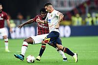 Frank Kessie-Filippo Falco<br /> Milano 20/10/2019 Stadio Giuseppe Meazza <br /> Football Serie A 2019/2020 <br /> AC Milan - Lecce <br /> Photo Image Sport / Insidefoto