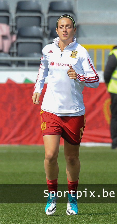 20170408 - EUPEN ,  BELGIUM : Spanish Alexia Putellas  pictured during the female soccer game between the Belgian Red Flames and Spain , a friendly game before the European Championship in The Netherlands 2017  , Saturday 8 th April 2017 at Stadion Kehrweg  in Eupen , Belgium. PHOTO SPORTPIX.BE | DIRK VUYLSTEKE