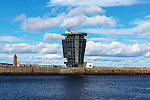 Navigation control tower at Aberdeen Harbour<br /> <br /> Image by: Malcolm McCurrach<br /> Sun, 1, March, 2015 |  &copy; Malcolm McCurrach 2015 |  All rights Reserved. picturedesk@nwimages.co.uk | www.nwimages.co.uk | 07743 719366