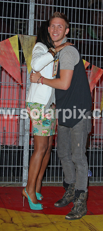 **ALL ROUND PICTURES FROM SOLARPIX.COM**.**WORLDWIDE SYNDICATION RIGHTS**.Channel 4 TV Big Brother series 11, 2nd batch of arrivals. London, UK. 24 July 2010..This pic: JJ and Jo..JOB REF: 11764 SKD       DATE: 24_07_2010.**MUST CREDIT SOLARPIX.COM OR DOUBLE FEE WILL BE CHARGED**.**MUST NOTIFY SOLARPIX OF ONLINE USAGE**.**CALL US ON: +34 952 811 768 or LOW RATE FROM UK 0844 617 7637**