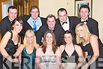PARTY TIME: Having a laugh at the New Year's Eve Ball on Monday night in the Earl of Desmond Hotel, Tralee, were front l-r: Julie Kennedy, Fionnuala Doyle, Fiona Flavin, Sorcha Ryan and Breda Nolan. Back l-r: Diarmuid Sugrue, Cormac Breen, David Lynch, Sea?n Roche and Garrett O'Donnell.   Copyright Kerry's Eye 2008