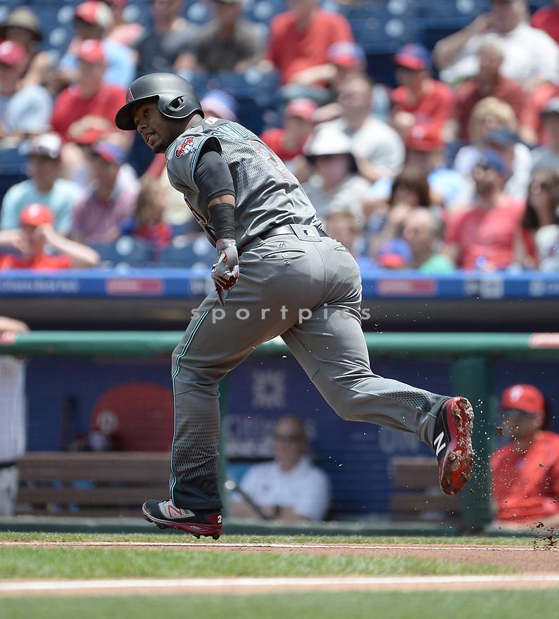 Arizona Diamondbacks Jean Segura (2) during a game against the Philadelphia Phillies on June 20, 2016 at Citizens Bank Park in Philadelphia, PA. The Diamondbacks beat the Phillies 3-1.