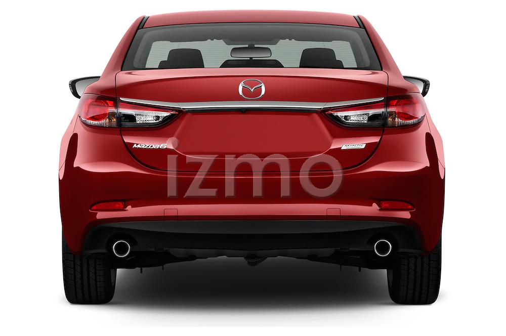 Straight rear view of a 2014 Mazda Mazda6 i Touring Sedan