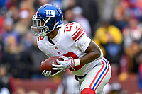 Landover, MD - December 9, 2018: New York Giants running back Wayne Gallman (22) runs the football during game between the New York Giants and Washington Redskins at FedEx Field in Landover, MD. The Giants defeated the Redskins 40-16 dropping the Redskins to 6-7 on the season. (Photo by Phillip Peters/Media Images International)