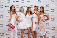 Courtney Sixx, Liz Roman, Heather McDonald, Laney Ziv and Tara Klein attend the 10th Annual White Light White Night Charity Fundraiser Benefiting Walk With Sally at The Rooftop of the Plaza at Continental Park in El Segundo, CA on Saturday, July 23, 2016 (Photo by Inae Bloom/Guest of a Guest)