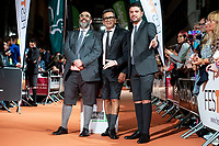 Bob Pop, Andreu Buenafuente and Miguel Maldonado attends to orange carpet of new comedian schedule of #0 during FestVal in Vitoria, Spain. September 06, 2018 (ALTERPHOTOS/Borja B.Hojas) /NortePhoto.com NORTEPHOTOMEXICO
