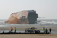 Wreck of the ferry Riverdance, Cleveleys, near Blackpool, Lancashire.