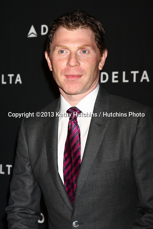 LOS ANGELES - FEB 7:  Bobby Flay arrives at the Celebration of LA's Music Industry reception at the Getty House on February 7, 2013 in Los Angeles, CA