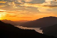 Sunset over Kenepuru Sounds - Marlborough Sounds, New Zealand
