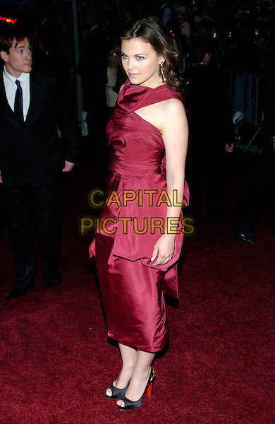 "GINNIFER GOODWIN.2007 Metropolitan Museum of Art Costume Institute Gala celebrating ""Poiret: King of Fashion"" exibition at the Metropolitan Museum of Art, New York City, New York, USA..May 7th, 2007.full length red burgundy dress maroon satin .CAP/ADM/BL.©Bill Lyons/AdMedia/Capital Pictures *** Local Caption ***"