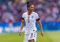 PARIS,  - JUNE 16: Ali Krieger #11 waits for the play during a game between Chile and USWNT at Parc des Princes on June 16, 2019 in Paris, France.