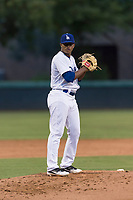 AZL Dodgers starting pitcher Robinson Ortiz (37) gets ready to deliver a pitch during an Arizona League game against the AZL Angels at Camelback Ranch on July 8, 2018 in Glendale, Arizona. The AZL Dodgers defeated the AZL Angels by a score of 5-3. (Zachary Lucy/Four Seam Images)