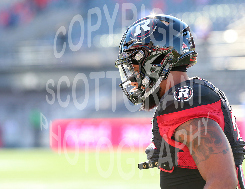 Khalil Bass Ottawa RedBlacks-8july2017-Photo: Scott Grant