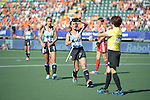 The Hague, Netherlands, June 08: During the field hockey group match (Women - Group B) between England and Argentina on June 8, 2014 during the World Cup 2014 at Kyocera Stadium in The Hague, Netherlands. Final score 1-2 (1-1)  (Photo by Dirk Markgraf / www.265-images.com) *** Local caption *** Maria Josefina Sruoga #30 of Argentina, Carla Rebecchi #11 of Argentina