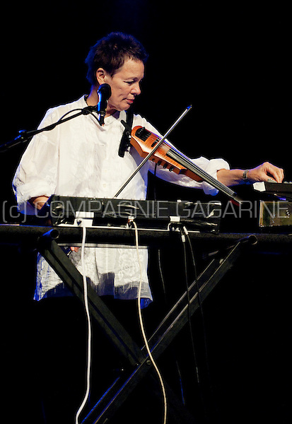 American musician Laurie Anderson performing at the Jazz Middelheim festival in Antwerp (Belgium, 13/08/2009)