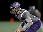 SIOUX FALLS, SD - OCTOBER 4: Broughan Jantz #47 from the University of Sioux Falls is ready for the game against Concordia St. Paul in the first half of their game Saturday evening at Bob Young Field.(Photo by Dave Eggen/Inertia)