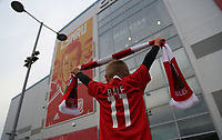 A young boy wearing a Gareth Bale top lifts his Wales scarf outside the stadium prior to the FIFA World Cup Qualifier Group D match between Wales and Austria at The Cardiff City Stadium, Cardiff, Wales, UK. Saturday 02 September 2017