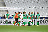 24th July 2020, Stade de France, Paris, France; French football Cup Final, Paris Saint Germain versus  St Ertienne;  Red card presented to Loic Perrin ( 24 - Saint Etienne ) -