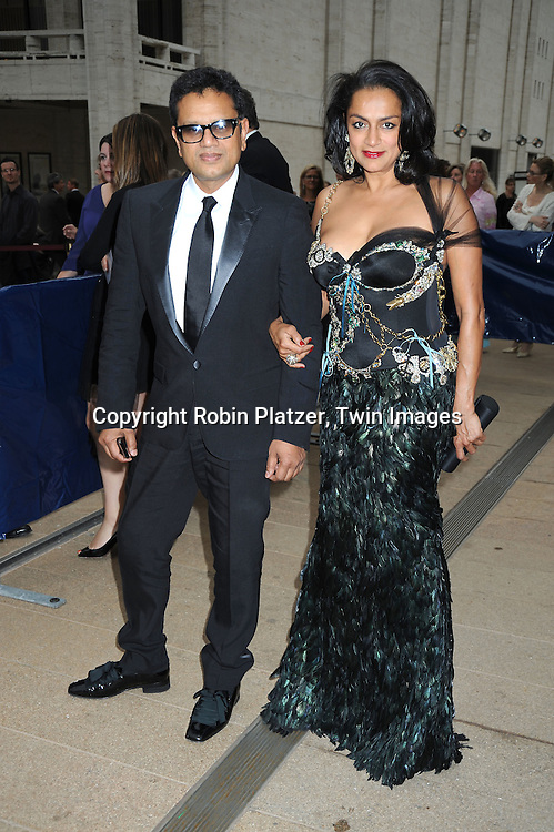 Naem Khan and wife arriving at The American Ballet Theatre's 70th Anniversay Season at their Spring Gala on May 17, 2010 at The Metropolitan Opera House in New York City.
