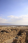 Dead Sea valley, the ancient settlement of Qumran