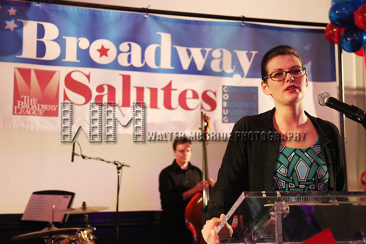 Kate Shindle.attending the Broadway League and Coalition of Broadway Unions and Guilds Presentation of The 3rd Annual Broadway Salutes in New York City.