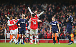Arsenal's Alexandre Lacazette celebrates after scoring the opening goal during the Premier League match at the Emirates Stadium, London. Picture date: 7th March 2020. Picture credit should read: Paul Terry/Sportimage