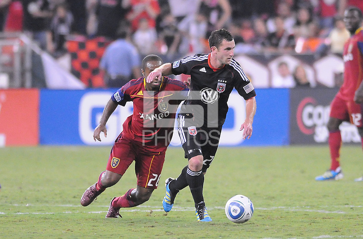 D.C. United midfielder Stephen King (20). D.C. United defeated Real Salt Lake 4-1 at RFK Stadium, Saturday September 24 , 2011.