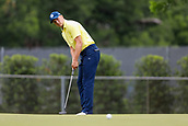 28th May 2017, Fort Worth, Texas, USA; Jordan Spieth putts on #4 during the final round of the PGA Dean & Deluca Invitational at Colonial Country Club in Fort Worth, TX.