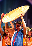Engeland, London, 10 augustus 2012.Olympische Spelen London.Huldiging in het Holland Heineken House van Laura Smulders en het Dames Hockey Elftal.Maartje Paumen met medaille