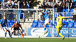 St Johnstone v St Mirren....04.10.14   SPFL<br /> Jason Naismith scores for St Mirren<br /> Picture by Graeme Hart.<br /> Copyright Perthshire Picture Agency<br /> Tel: 01738 623350  Mobile: 07990 594431