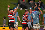 Graham Dewes celebrates at the final whistle. ITM Cup rugby game between Counties Manukau Steelers and Northland, played at Bayer Growers Stadium, Pukekohe, on Sunday September 26th 2010..The Counties Manukau Steelers won 40 - 24 after leading 27 - 7 at halftime.