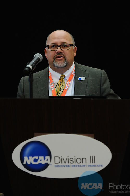 11 JAN 2012: The Division III Joint Breakfast at the 2012 NCAA Convention held at the JW Marriott and Indianapolis Convention Center in Indianapolis, IN.  Stephen Nowland/NCAA Photos.Pictured: Jeff Martinez