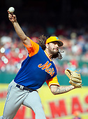 New York Mets starting pitcher Robert Gsellman (65) pitches in the second inning against the Washington Nationals at Nationals Park in Washington, D.C. on Saturday, August 26, 2017.<br /> Credit: Ron Sachs / CNP<br /> (RESTRICTION: NO New York or New Jersey Newspapers or newspapers within a 75 mile radius of New York City)