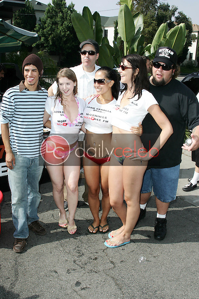 Sunny Lane with Adam Carolla and Big Tad<br />at the Adam Carolla and 97.1 KLSX Free FM Charity Car Wash to benefit Autism Research. Hollywood, CA. 08-25-06<br />Jason Kirk/DailyCeleb.com 818-249-4998