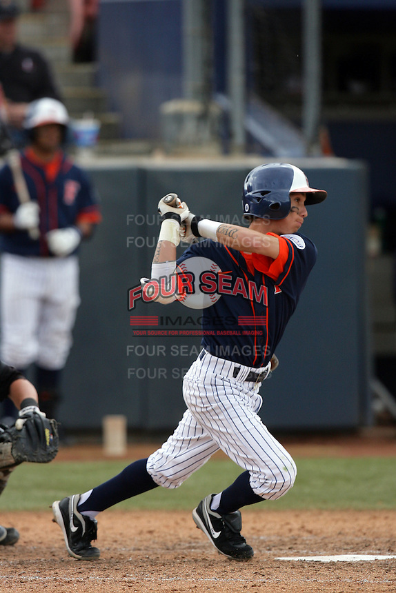 February 21 2010: Richie Pedroza of Cal. St. Fullerton during game against Cal. St. Long Beach at Goodwin Field in Fullerton,CA.  Photo by Larry Goren/Four Seam Images
