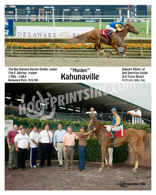 Kahunaville winning at Delaware Park on 9/6/06