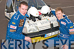 1776-1778.---------.Caution.--------------.Brendan O Mahony and Marcus Treacy are all set for the start of the 2 day Lakes International Rally last weekend in Killarney